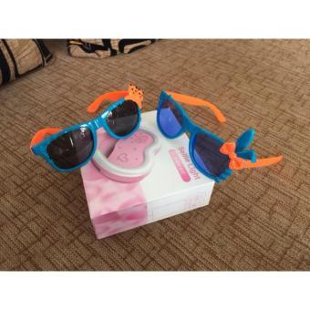 Bộ 2 Mắt kính mát dành cho bé gái và trai hình chiếc nơ và chú gấu