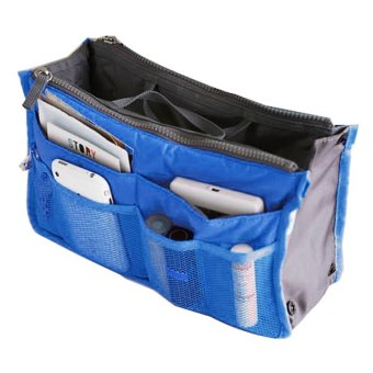 Cyber New Women Travel Insert Handbag Organiser Purse Large liner Organizer Tidy Bag Pouch(Blue) - Intl