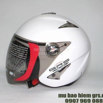 Mũ bảo hiểm GRS A27k Trắng bóng