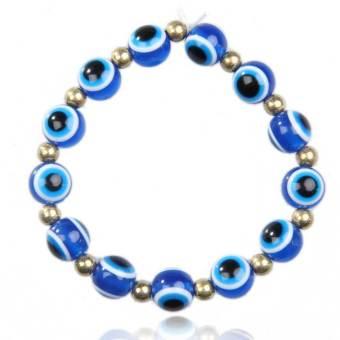 Fashion Blue Turkey Jewelery Evil Eyes Lovely Eyeballs Style Bracelet (Intl)