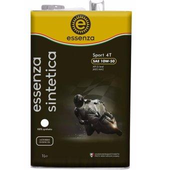 Dầu nhớt Ý cho xe máy động cơ 4 thì essenza sintetica Sport 4T SAE 10W-50 API SL MA2 1 Lít (Hộp thiếc)