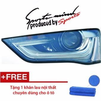 Decal dán Sport trang trí cho xe hơi (Đen) - Tặng 1 khăn lau nội thất