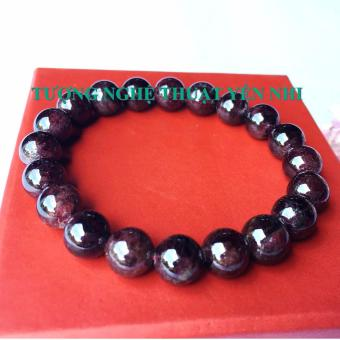 Vòng tay Ngọc hồng lựu (đá Garnet) thiên nhiên size hạt 8mm