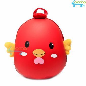 Balo hình con gà ngộ nghĩnh đựng quần áo sách vở cho bé CK-25 (đỏ)