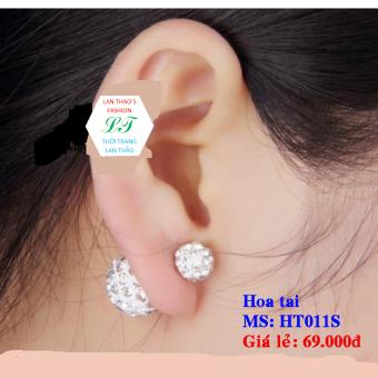 Hoa tai dior inox cực xinh HT011S (Trắng)