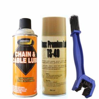 Bộ 3 sản phẩm vệ sinh sên TS-40, bôi trơn bảo dưỡng Johnsens và bàn chải vệ sinh sên 3D