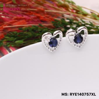 Bông tai nữ trang sức bạc Ý S925 Bạc Xinh - Đôi thiên nga đẹp hình trái tim RYE140757