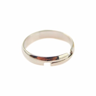 Fancyqube 2016 Smooth Foot Ring Color Gold/ Silver Plated Standard Inner Diameter 1.4cm Drop Shipping Silver - intl