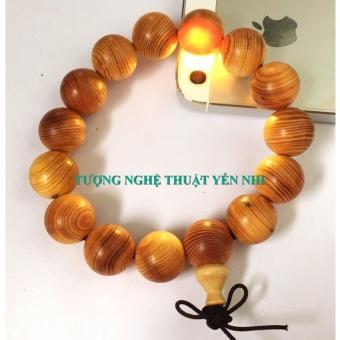 Vòng tay Phong thủy Gỗ Huyết Long vân (thấu quang) hạt 15mm