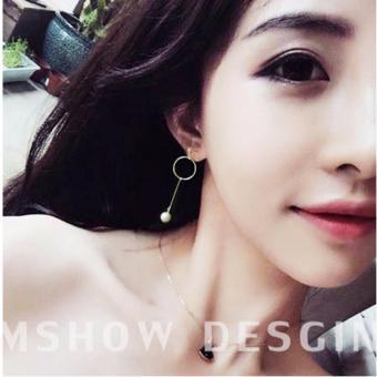 Bống tai nữ dáng dài đính ngọc trai và vòng duyên dáng FASHION 9898