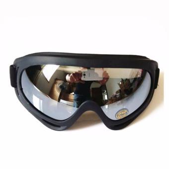 Mắt kính đi phượt chống bụi, chống tia UV (kính tráng bạc trong)