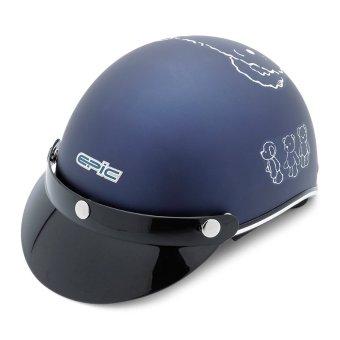 Nón bảo hiểm Epic TA-112 tem Gấu ( Xanh dươg nhám)