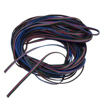 niceEshop 4 Color 10M RGB Extension Cable Line Wire for LED Strip RGB 5050 3528 Cord
