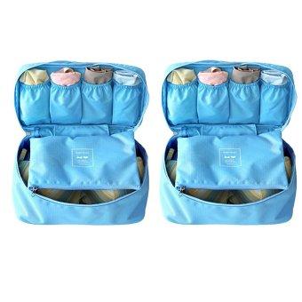 Bộ 2 túi đựng đồ lót du lịch Monopoly underwear (Xanh dương)