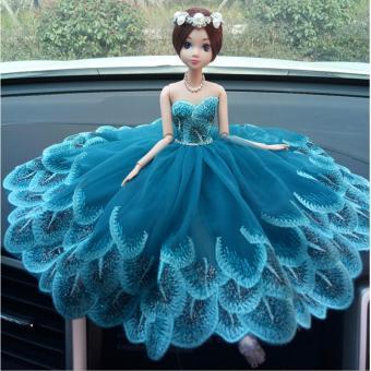 Búp bê trang trí ô tô cao cấp dành cho nữ (xanh)