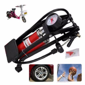 Bơm ô tô - xe máy đạp chân mini đa năng JC 702A (Đỏ)