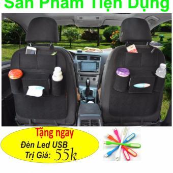 Túi đựng đồ treo sau ghế ô tô (Đen) Hàng Nhập Khẩu + Tặng Ngay Đèn Led USB Trị Giá 55k