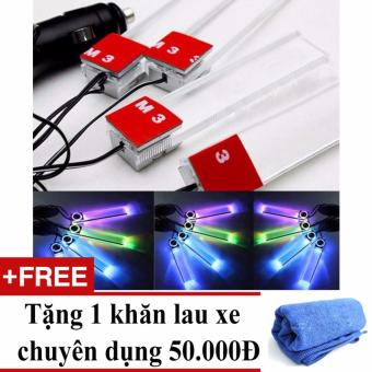 Đèn led chiếu gầm ghế ô tô mẫu 2 + Tặng 01 khăn lau xe chuyên dụng