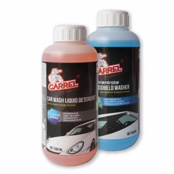Mua Bộ 02 chai : Nước Châm Bình Rửa Kính Ô tô đậm đặc CARREL 500ml và Nước Rửa Xe Ô tô đậm đặc bảo vệ lớp sơn xe CARREL 500ml giá tốt nhất