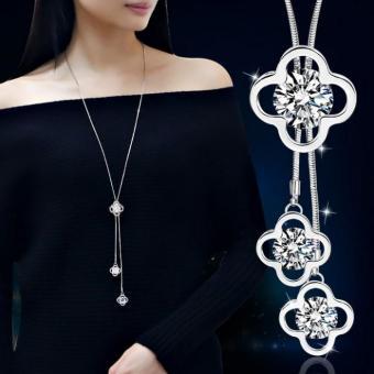 Dây Chuyền Dài Pha Lê Lấp Lánh Clove phong cách Hàn Quốc MYL-YY005 (Trong Suốt)
