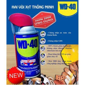 Chai xịt chống rỉ sét, chống ẩm bảo dưỡng WD-40 Smart Straw 220g (có vòi tiện lợi)