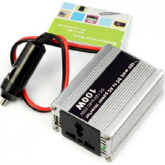 Bộ chuyển đổi nguồn điện từ 12V ra 220V công suất 100W Hanghot365 (Màu bạc)
