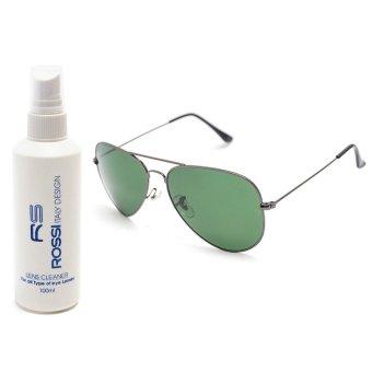Bộ 1 kính mát nam và 1 chai nước rửa kính MKH 3026 (Đen)