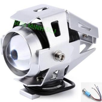 Đèn pha LED U5 Transformers 12V~80V dùng cho xe gắn máy (Bạc) + Tặng kèm bộ nút nhấn
