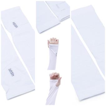 Găng tay chống nắng UV Aqua Lest Lim (Trắng)