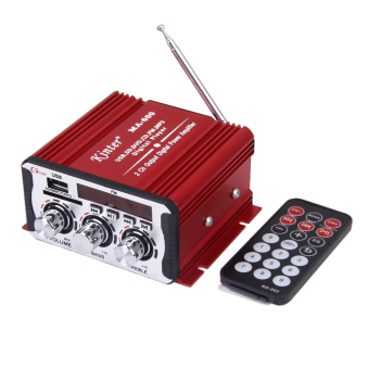 DC12V Mini Power Amplifier Support USB/SD/FM for Car/Motorcycle MA-600 Red - Intl
