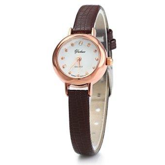 Đồng hồ nữ dây da tổng hợp Yuhao YU002-5 (Nâu)