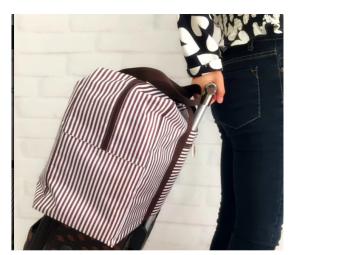 Túi vali du lịch tiện dụng (Sọc nâu).