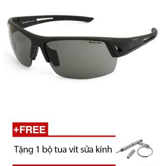 Kính mát nam Exfash EF 4773 919(Đen) + Tặng 1 bộ tua vít sửa kính