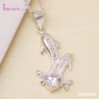 Bộ dây chuyền liền mặt nữ trang sức bạc Ý S925 Bạc Xinh YCXD046