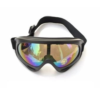 Mắt Kính Đi Phượt chống bụi và tia UV tráng bạc 7 màu