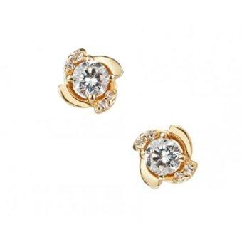 Bông tai nữ bạc mạ vàng 14k - BONG007