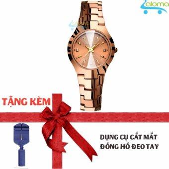 Đồng hồ nữ 24mm dây kim loại chống nước R-ontheedge kèm dụng cụ cắt dây