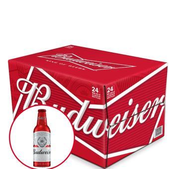 Thùng bia Budweiser Aluminum 24 chai x 355ml (Phiên bản đặc biệt Nhôm nguyên khối)