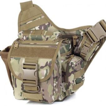 Túi đeo hông máy ảnh Du lịch Bụi phong cách QĐ Mỹ (Nâu)