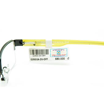 Gọng kính unisex 3D-DLP G2905/5A-DV-OFF (Đen vàng)