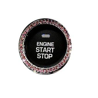 Vòng tròn trang trí nút Start Stop trên xe hơi (Hồng)