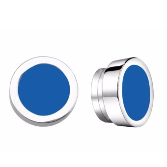 Bộ 2 bông tai nam châm inox 8mm BNC01 (Xanh dương)