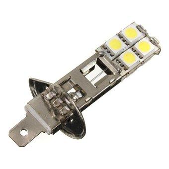 H1 5050 SMD 8 LED Car Fog Light DC12V Pure White 2pcs - intl