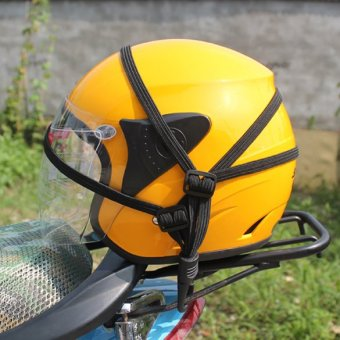 Pratical Luggage Helmet Net Rope Motorcycle String Bag Refit Accesory (Intl)