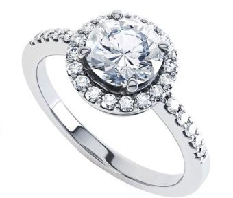 Nhẫn nữ đá kim cương nhân tạo NN34
