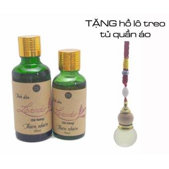 Bộ tinh dầu hoa Oải hương nguyên chất Ngọc Tuyết 80ml + Tặng 1 vỏ chai hồ lô