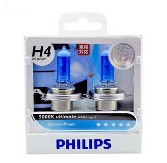 Bộ 2 bóng đèn Philips DiamondVision 5000K chân H4