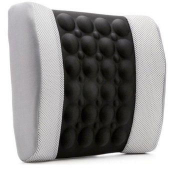 Đệm dựa lưng massage điện cho ô tô HQ STORE 0TI72-3(Ghi phối đen)