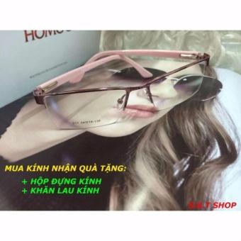Gọng kính cận xịn viền cước(màu hồng)