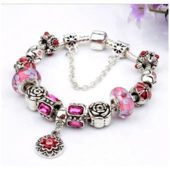 Vòng đeo tay mạ bạc trang sức hạt charms cao cấp Jewelry Queen Victoria Charm Panda DZ60 (Bạc)